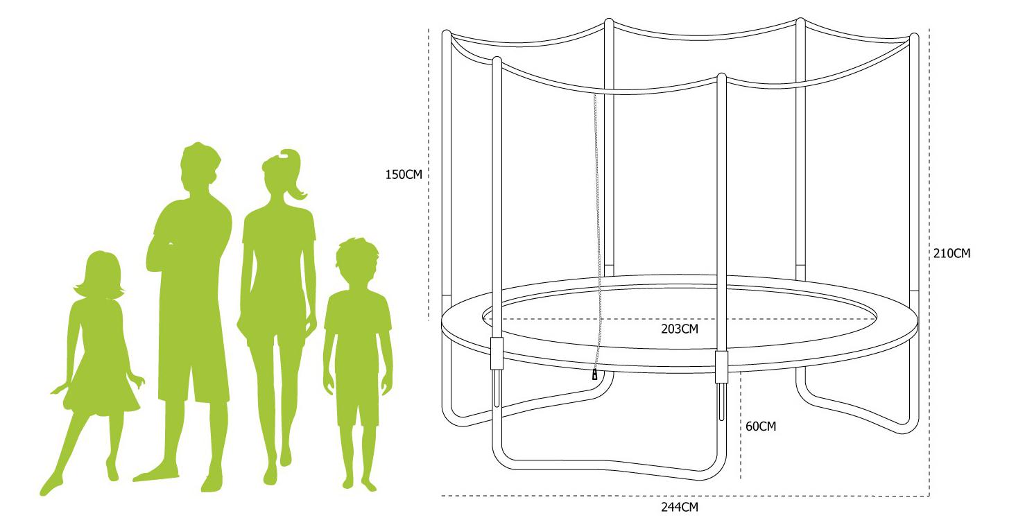 Trampoline Pluton XXL dimensions